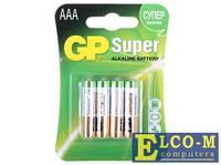 Батарея GP 24A 4шт. Super Alkaline (AAA)
