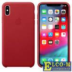 Чехол-накладка для iPhone XS Max Leather Case MRWQ2ZM/A - Red клип-кейс, кожа