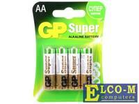 Батарея GP 15A 4шт. Super Alkaline (AA)