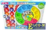 Развивающая игрушка Shantou Gepai 3в1 Сортер, лабиринт, часы 520