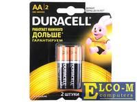 Батарейки DURACELL (АА) LR6-2BL BASIC CN 2 шт