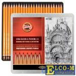 Набор карандашей Koh-i-Noor 1504024001PL 24 шт 175 мм чернографитный