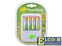 Зарядное устр. GP Зарядное устр. PowerBank 13 часов + аккум. 4шт. 1300mAh