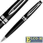 Ручка шариковая EXPERT Matte Black CT, мат.черный корпус, хром. детали, синие чернила, М WAT-S095190
