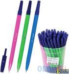 """Ручка шариковая СТАММ """"049"""", корпус неоновый ассорти, узел 1,2 мм, линия 0,7 мм, синяя, РШ01"""