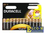 Батарейки DURACELL (АА) LR6-12BL BASIC NEW 12шт.
