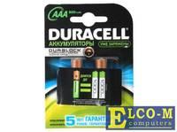 Аккумуляторы DURACELL (AAA) HR03-2BL 850 (900)mAh предзаряженные 2 шт
