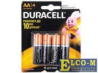 Батарейки DURACELL (АА) LR6-4BL BASIC CN 4 шт
