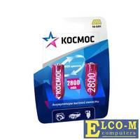 Аккумулятор КОСМОС KOCR6NIMH2800MAH2BL R6 NiMn 2800мАч BP-2(блист.2шт.)