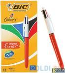 """Ручка шариковая автоматическая BIC """"4 Colours"""" 4 шт ассорти 0.3 мм"""