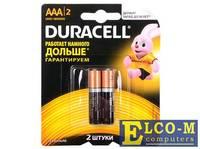 Батарейки DURACELL (ААА) LR03-2BL BASIC
