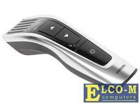 Машинка для стрижки Philips HC7460/15, самозаточка, аккум. на 120мин, 60 установок длины, набор насадок, серебристый/черный
