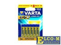 Батарейка VARTA LONGLIFE AAA/LR03, 4+2шт. в блистере 4103101426