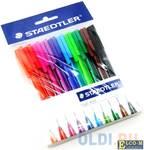 """Ручки шариковые STAEDTLER, набор 10 шт., """"Ball"""", трехгранные, узел 1 мм, линия 0,5 мм, ассорти, 4323"""