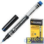 Маркер перманентный BRAUBERG 150508 0.5 мм синий