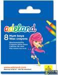 Восковые мелки Adel ADELAND круглые 10 мм 8 штук 8 цветов от 3 лет 228-2814-100