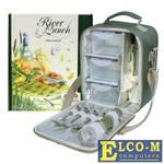 Набор для пикника CW River Lunch в подарочной упаковке (на 2 персоны, цвет зеленый, сумка-термос с набором посуды и термосом для напитков, вес 1250г)
