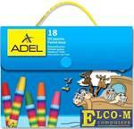 Мелки пастельные Adel 428-1818-000 18 штук 18 цветов от 3 лет