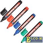 Маркеры перманентные EDDING 300, набор 4 шт., круглый наконечник 1,5-3 мм, черный, синий, красный, з