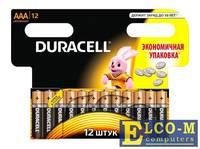 Батарейки DURACELL (ААА) LR03-12BL BASIC NEW 12 шт