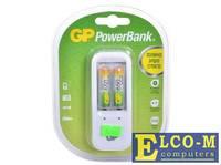 Зарядное устр. GP PowerBank, 13 часов + аккум. 2шт. 650mAh