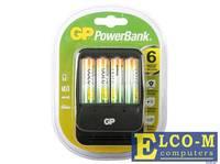 Зарядное устр. GP PowerBank 2, 6 часов + аккум. 4шт. 2700mAh