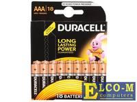 Батарейки DURACELL (ААА) LR03-18BL BASIC 18 шт