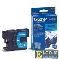 Картридж струйный Brother LC980C голубой (cyan) 260 стр.