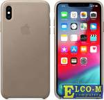 Чехол-накладка для iPhone XS Max Apple Leather Case - Taupe MRWR2ZM/A