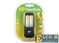 Зарядное устр. GP PowerBank 5 часов + аккум. 2шт. 2700mAh