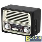 Радиоприемник MAX MR-370 AM/FM/SW Трехполосный радиоприемник, Разъемы USB/TF, BLUETOOTH, Выход. мощность 5W, цвет: Black/Gold