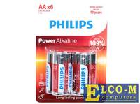 Батарейки Philips LR6P6BP/10 (AA) Power щелочные (блистер 6 шт)