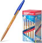 """Ручка шариковая ERICH KRAUSE """"R-301 Amber"""", корпус тонированный оранжевый, узел 0,7 мм, линия 0,35 м"""