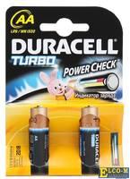 Батарейки DURACELL (АА) LR6-2BL TURBO NEW 2 шт