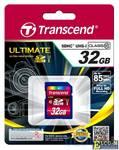 Карта памяти SDHC 32Gb Transcend UHS-I 600x Ultimate Class10