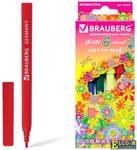 """Фломастеры BRAUBERG """"Blooming flowers"""", 6 цветов, вентилируемый колпачок, картонная упаковка с радуж"""