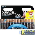 Батарейки DURACELL (AA) LR6-12BL 12 шт Ultra Power