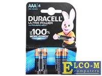 Батарейки Duracell LR03-4BL Ultra Power AAA блистер 4 шт