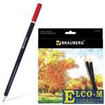 """Набор цветных карандашей BRAUBERG """"Artist line"""" 24 шт 176 мм"""