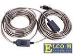 Кабель USB2.0-repeater, удлинительный активный Am--Af 15м, Telecom TUS7049-15M