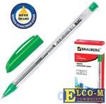 """Ручка шариковая масляная BRAUBERG """"Rite-Oil"""" зеленый 0.35 мм"""