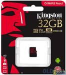 Карта памяти MicroSDHC 32GB Kingston Class10 Canvas React