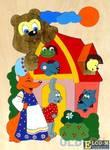 Развивающая игрушка Крона Мозаика-вкладыш дерев. Теремок 143-019
