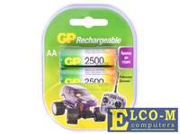 Аккумулятор 2500 mAh GP 250AAHC-2DECRC2 AA 2 шт