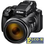 "Фотоаппарат Nikon Coolpix P1000 Black 16.8Mp, 125x zoom, 3,2"", SDXC, WiFi/NFC. 4K, GPS/ГЛОНАСС/QZSS"