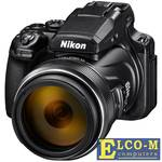 "Фотоаппарат Nikon Coolpix P1000 Black 16.8Mp, 125x zoom, 3,2"", SDXC, WiFi/NFC. 4K, GPS/ГЛОНАСС/QZSS"