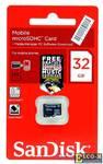 Карта памяти MicroSDHC 32GB SanDisk Class4 w/o adapter