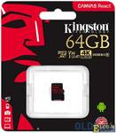 Карта памяти MicroSDXC 64GB Kingston Class10 Canvas React