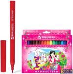 """Фломастеры BRAUBERG """"Rose Angel"""", 18 цветов, вентилируемый колпачок, картонная упаковка, увеличенный"""