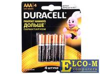 Батарейки DURACELL (ААА) LR03-4BL BASIC